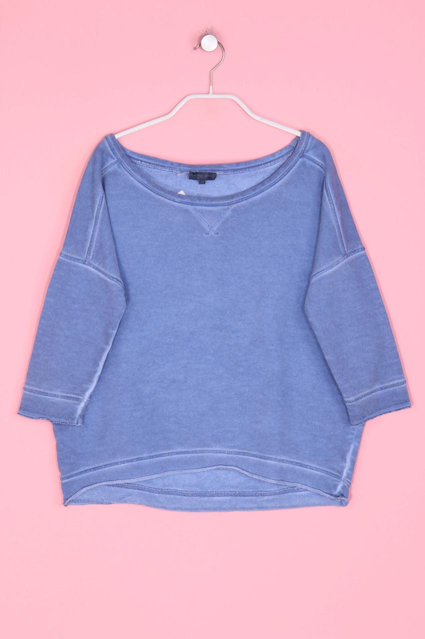 details zu naturaline garment dyed-sweatshirt xs graublau pullover oberteil