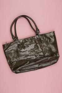 AJ ARMANI JEANS - faux leather- handtasche  mit logo-plakette - ONE SIZE