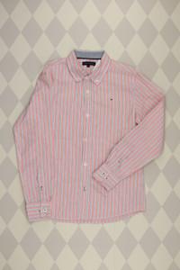 TOMMY HILFIGER - baumwoll- hemd  mit logo-stickerei - 152