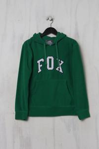 FOX MEN ACTIVE - fleece-kapuzen-pullover mit logo-stickerei - XS
