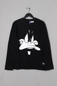 H&M DIVIDED - print-sweatshirt mit logo-patch - M