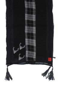 erfurt - schal aus baumwolle mit logo-patch -