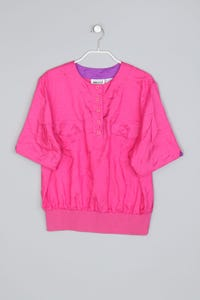 LESLIE FAY - vintage-kurzarm-bluse - S