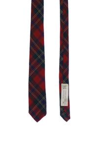 CHAPELLERIE WEISS AG. Basel - vintage-krawatte aus wolle mit karo-muster -