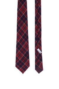 lacloche - krawatte aus wolle mit tartan-muster -