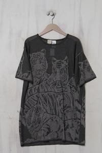 KRIZIA MAGLIA - vintage-kurzarm-shirt mit metallic-effekt - D 44