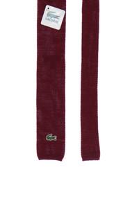 CHEMISE LACOSTE - strick-krawatte aus wolle mit logo-applikation -