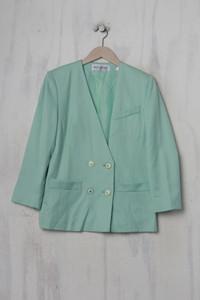 WEINBERG PARIS - vintage-zweireiher-blazer-jacke aus reiner schurwolle - L