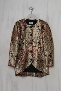 SHELANA LONDON - vintage- blazer mit metallic-effekt - D 38