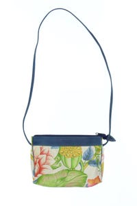 pierre cotte sellier - umhänge-tasche mit floralem muster mit logo-prägung -