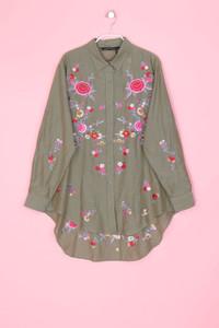 ZARA WOMAN - hemd-bluse mit stickereien mit seide - M