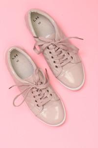 LH by LA HALLE - low-top sneakers mit steppung -