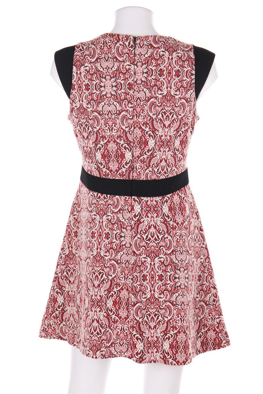 ZARA WOMAN Kleid mit floralem Muster L rot Damen Dress ...