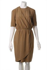 AKRIS - vintage-kleid aus seide in wickel-optik - D 38