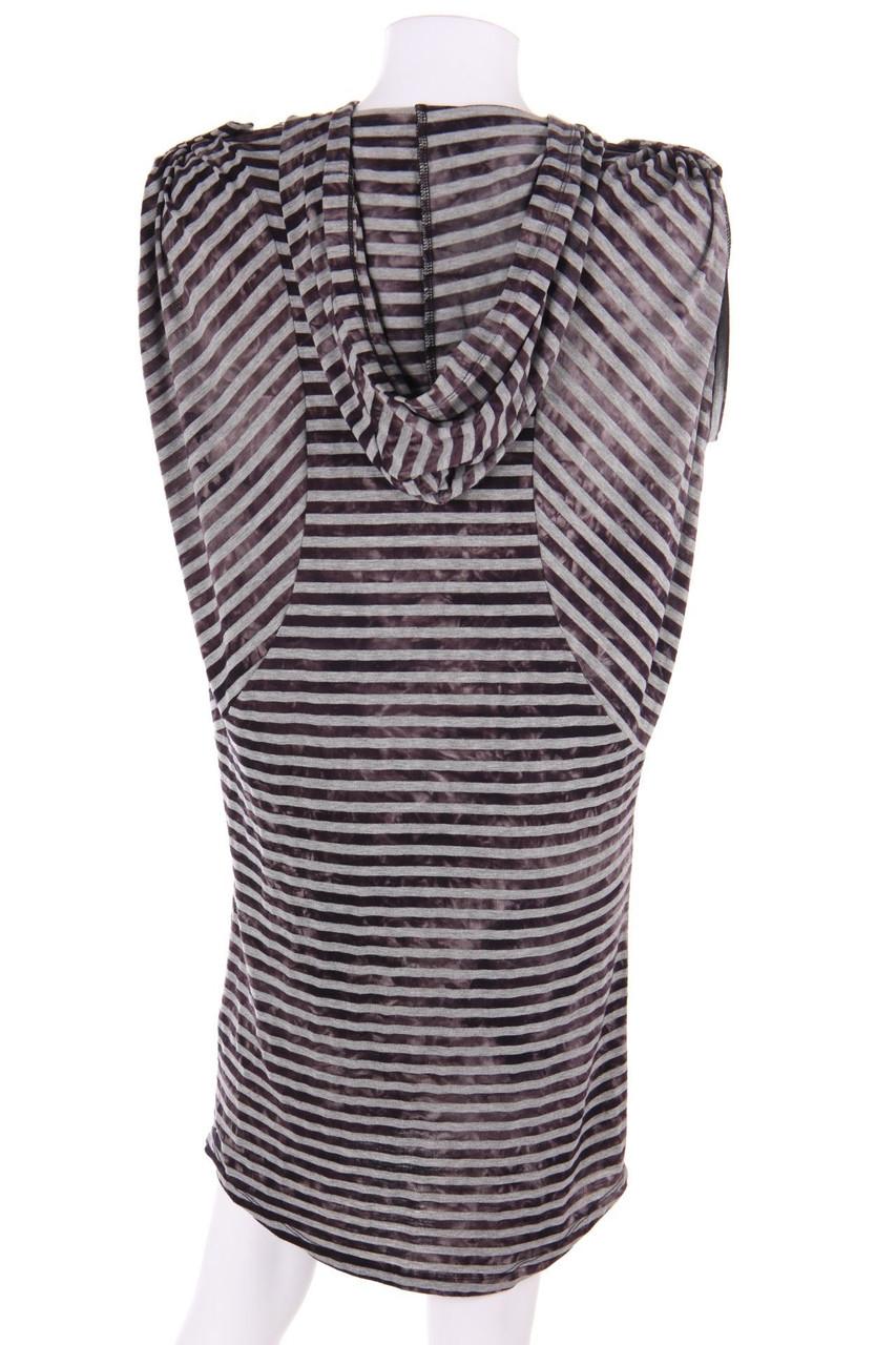 DIESEL Muster-Kleid mit Kapuze XXL schwarz Damen Dress ...
