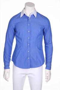 0039 ITALY - bluse aus baumwolle mit streifen - M