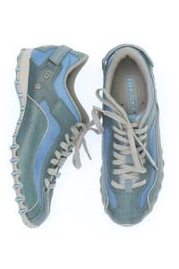 DIESEL - low-top sneakers aus echtem leder mit logo-print -