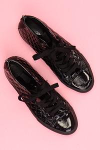 GEOX RESPIRA - lack-high-top sneakers mit steppung -
