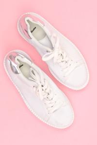 Bata - plateau-low-top sneakers mit metallic-effekt -