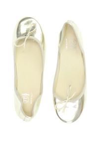 TT bagatt - metallic-ballerinas mit schleife -