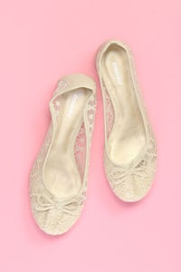 GRACELAND - spitzen-ballerinas mit schleife -