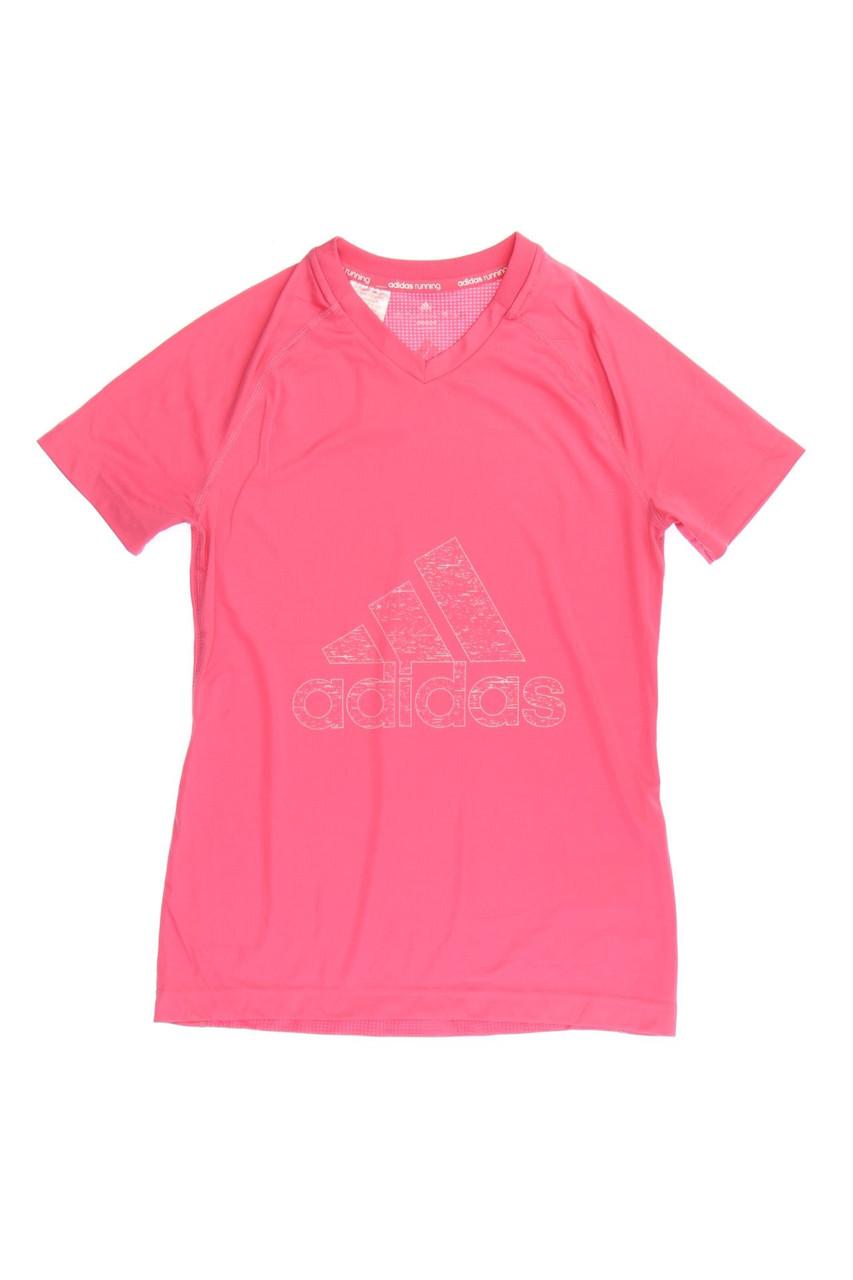 FM4486 Adidas Mädchen T-Shirt Badges Tee in Rosa mit Print