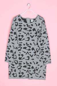 VERO MODA - strick-kleid mit leo-print - XL