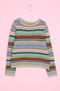 UNITED COLORS OF BENETTON - norweger-strick-pullover aus woll-mix - M