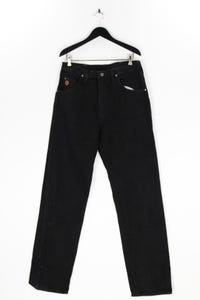 Twenty X - used look straight cut jeans mit logo-patch - W35