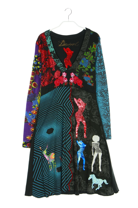 Desigual Midi-Kleid mit Stickereien aus Baumwolle L ...
