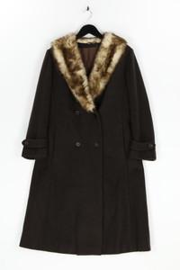 GOLDRING MÄNTEL - winter-mantel aus woll-mix mit faux fur-kragen - L
