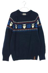 Knowledge Cotton Apparel - norweger-baumwoll-pullover mit logo-patch - S