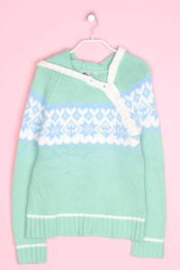 PULP - norweger-polo-pullover aus woll-mix mit asymmetrischem schnitt - S