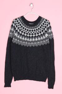 H&M LOGG - norweger-strick-pullover mit angora - S