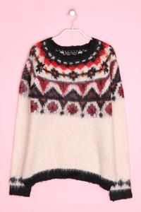 Bershka Knitwear - norweger-strick-pullover - L