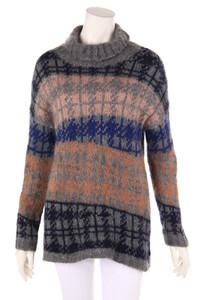 Jucca - norweger-strick-pullover mit rollkragen - L
