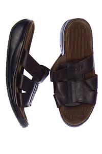 Joya - echt-leder-sandalen mit logo-prägung -