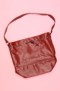 MANGO - faux leather-bucket bag/beutel-tasche - ONE SIZE