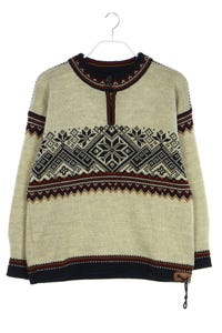 DALE OF NORWAY - norweger-strick-pullover aus reiner schurwolle  mit applikationen - XL