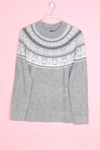 MONTEGO - norweger-strick-pullover mit metallic-effekt - XL