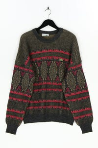 CHEMISE LACOSTE - rundhals-pullover aus woll-mix mit logo-stickerei - 52