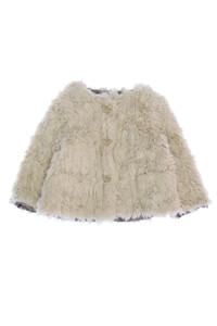 ZARA Baby - fake fur- jacke mit aufgesetzten taschen - 80