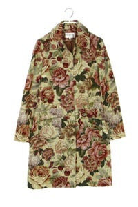 SERGIO DONNA - vintage-übergangs-mantel mit floralem muster - D 36