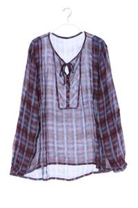 NILE - chiffon-tunika-bluse mit raffungen - L