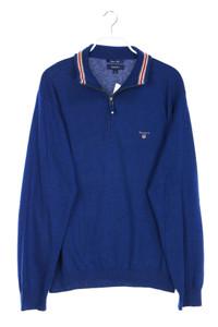 GANT - troyer-pullover aus woll-mix mit logo-stickerei - XL