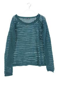 NILE - strick-pullover aus lochstrick mit wolle - M