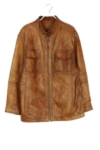 David Moore - leder-jacke mit zipper - 52