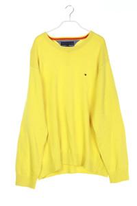 TOMMY HILFIGER - baumwoll-strick-pullover mit logo-stickerei - XL