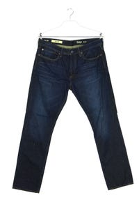 Gap 1969 - used look straight cut jeans mit logo-patch - W34