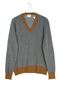LUIS TRENKER - v-neck-pullover aus woll-mix mit logo-stickerei - XL